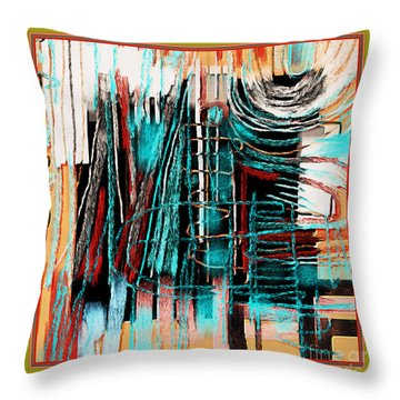 Abstract 974 Throw Pillow by Nedunseralathan R