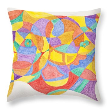 Throw Pillow featuring the painting Faces And Places by Stormm Bradshaw