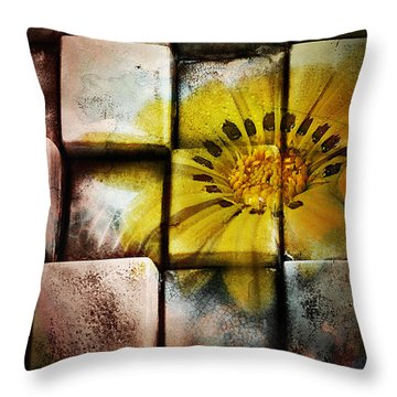 Throw Pillow featuring the photograph Abstract Art 001 by Kevin Chippindall