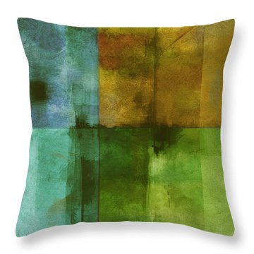 abstract - art- Color Block Rectangle  Throw Pillow by Ann Powell