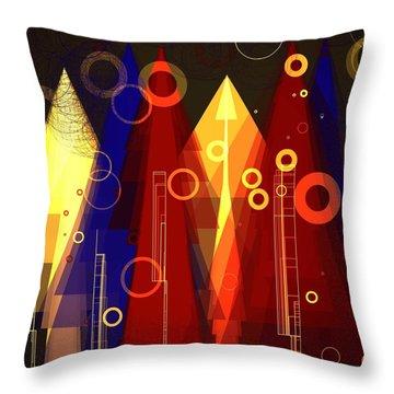 Abstract Art Deco Throw Pillow