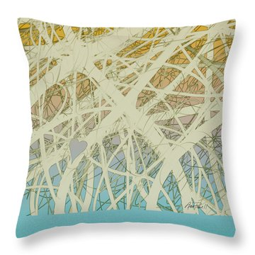 abstract-art-Follow Your Heart Throw Pillow by Ann Powell