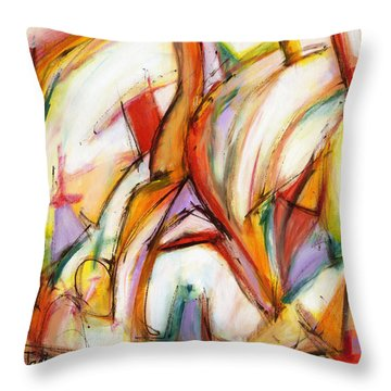 Abstract Art Forty-five Throw Pillow