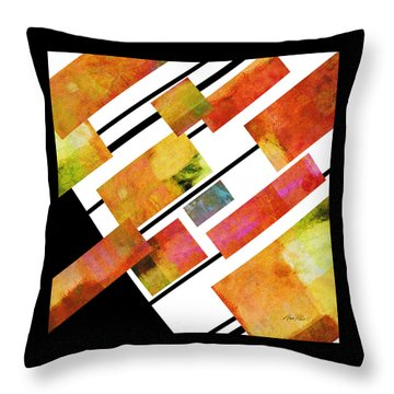 abstract art Homage to Mondrian Square Throw Pillow by Ann Powell