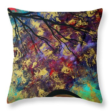 Abstract Art Original Landscape Painting Go Forth IIi By Madart Studios Throw Pillow by Megan Duncanson