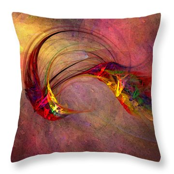 Abstract Art Print Hummingbird Throw Pillow