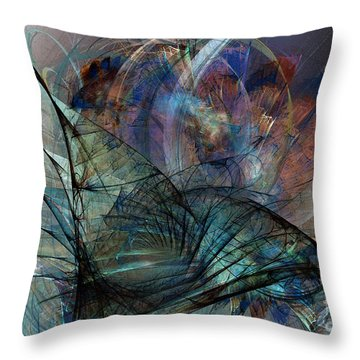 Abstract Art Print In The Mood Throw Pillow