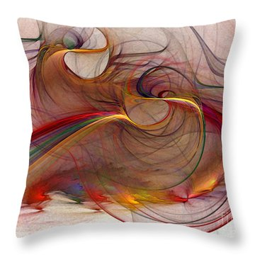 Abstract Art Print Inflammable Matter Throw Pillow