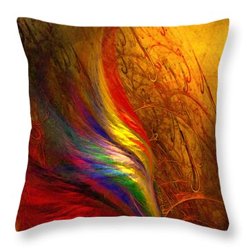 Abstract Art Print Sayings Throw Pillow