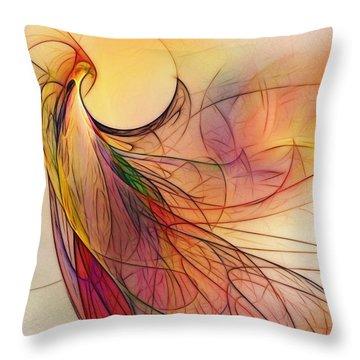 Abstract Art Print Sunday Morning Sidewalk Throw Pillow