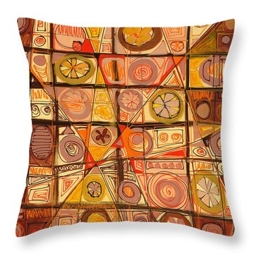 Abstract Art Sixty-five Throw Pillow by Lynne Taetzsch