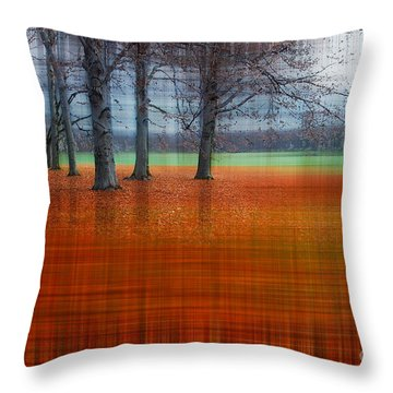abstract atumn II Throw Pillow