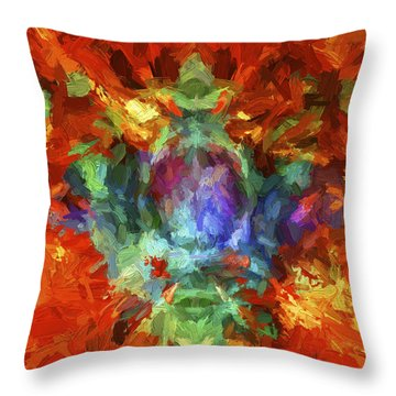 Abstract Series B5 Throw Pillow