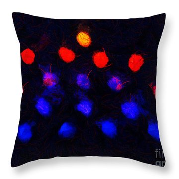 Abstract Balls #2 Throw Pillow by Pixel Chimp