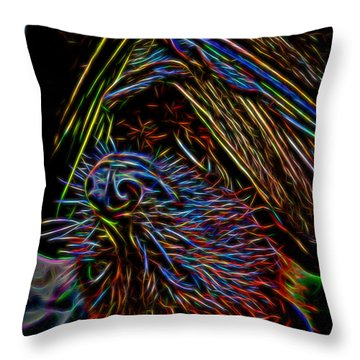 Abstract Bat Throw Pillow