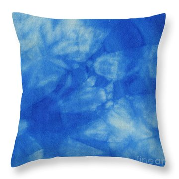 Abstract Batik Pattern Throw Pillow by Kerstin Ivarsson