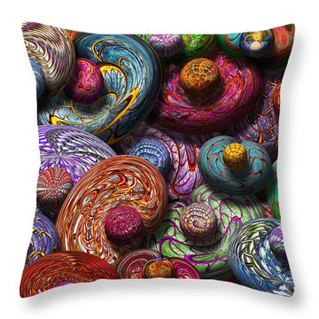 Abstract - Beans Throw Pillow by Mike Savad