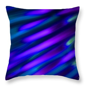 Abstract Blue Green Pink Diagonal Throw Pillow by Marvin Spates