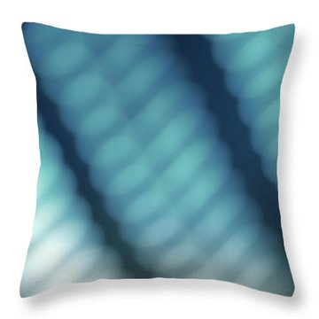 Abstract Blue Reflections Throw Pillow by Amy Cicconi