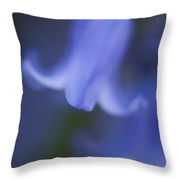 Abstract Bluebell Throw Pillow by Anne Gilbert