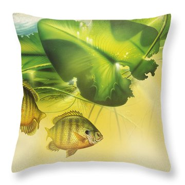Abstract Blugill Throw Pillow by JQ Licensing