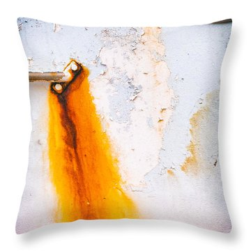Throw Pillow featuring the photograph Abstract Boat Detail by Silvia Ganora