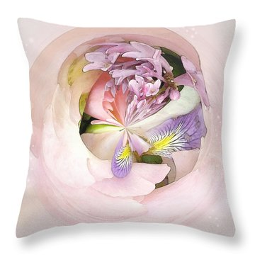Abstract Bouquet Throw Pillow