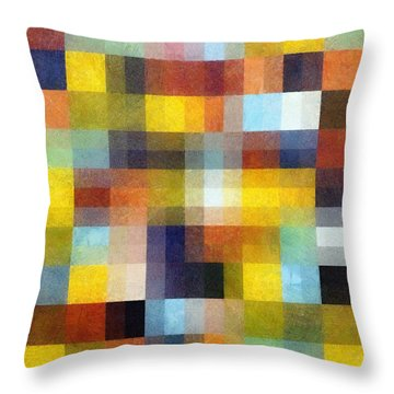 Abstract Boxes With Layers Throw Pillow