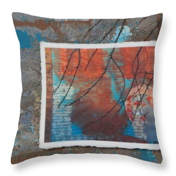 Abstract Branch Collage Throw Pillow by Anita Burgermeister