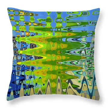 Abstract By Photoshop 1 Throw Pillow