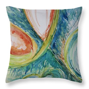 Abstract Chaos Throw Pillow