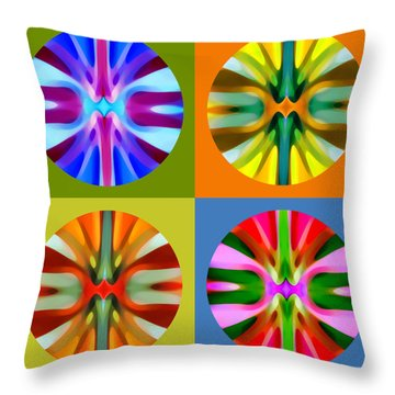 Abstract Circles And Squares 1 Throw Pillow by Amy Vangsgard