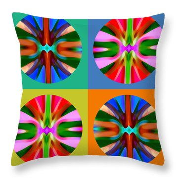 Abstract Circles And Squares 4 Throw Pillow by Amy Vangsgard