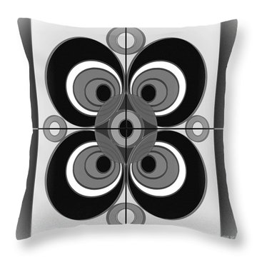 Abstract Circular Pattern Throw Pillow