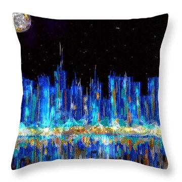 Abstract City Skyline Throw Pillow