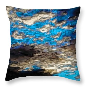 Abstract Clouds Throw Pillow by Claudia Ellis
