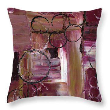Abstract Connection One Throw Pillow