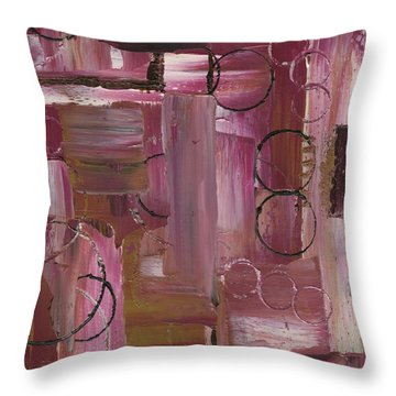 Abstract Connection Three Throw Pillow