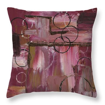 Abstract Connection Two Throw Pillow
