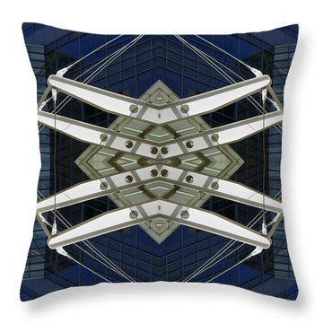 Abstract Construction Throw Pillow