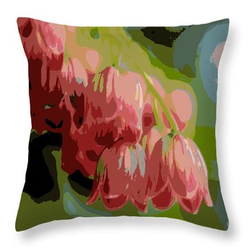Throw Pillow featuring the photograph Abstract Coral Bells by Kenny Glotfelty
