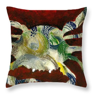 Abstract Crab Throw Pillow