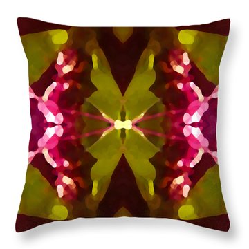 Abstract Crystal Butterfly Throw Pillow by Amy Vangsgard