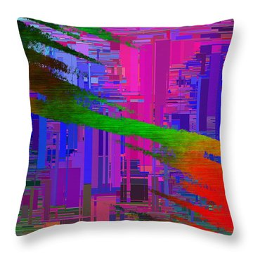 Abstract Cubed 110 Throw Pillow