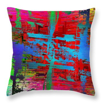 Abstract Cubed 47 Throw Pillow