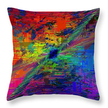 Abstract Cubed 77 Throw Pillow