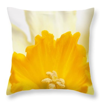 Abstract Daffodil Throw Pillow