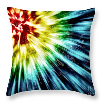 Abstract Dark Tie Dye Throw Pillow