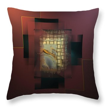 Abstract Decadent Throw Pillow