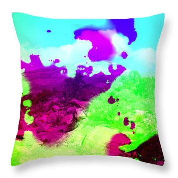 Abstract Desert Scene Throw Pillow by Alan and Marcia Socolik